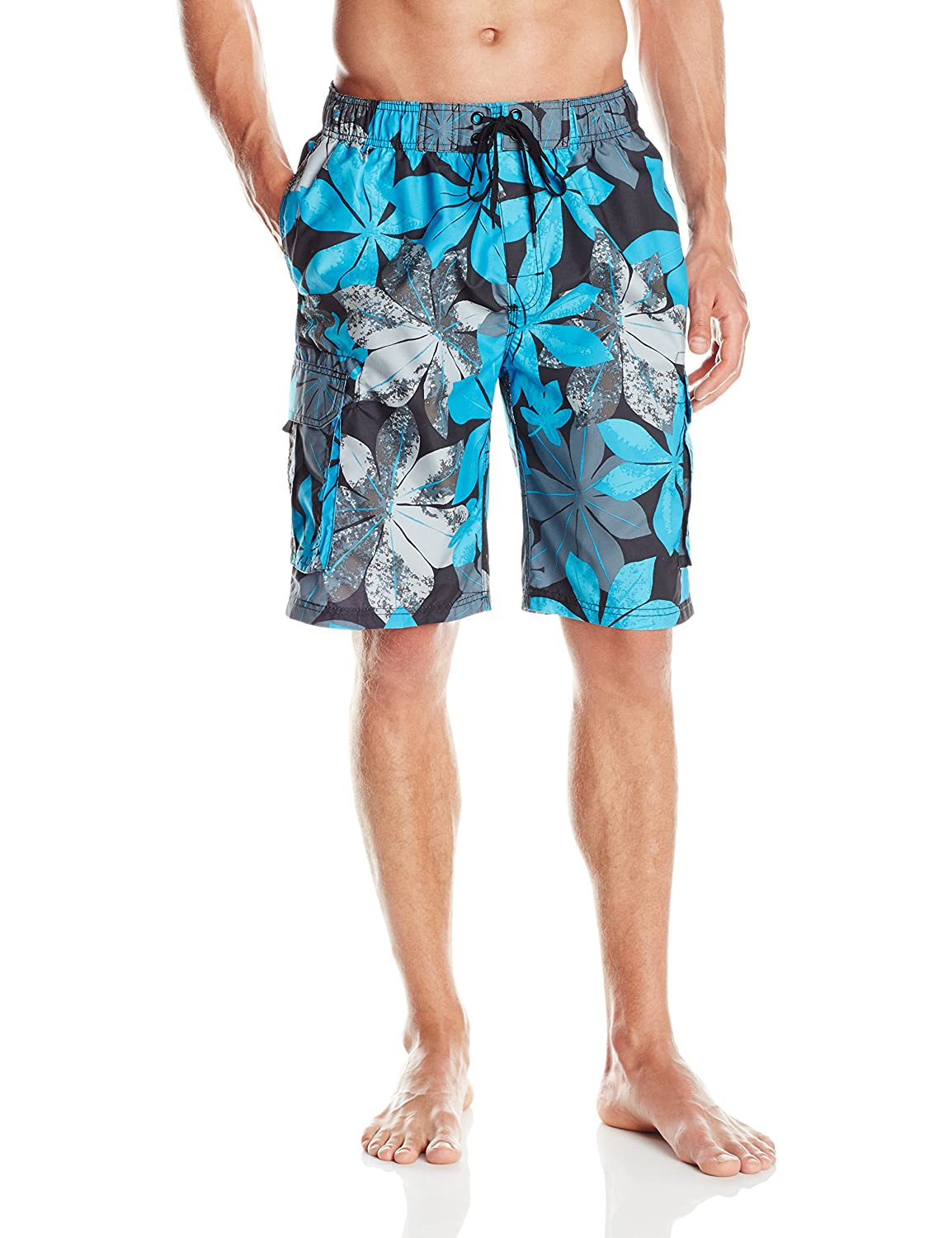 Kanu Surf Men's Quick Dry Floral Beach Board Shorts Swim Trunk Kanu Surf Men's Swimwear