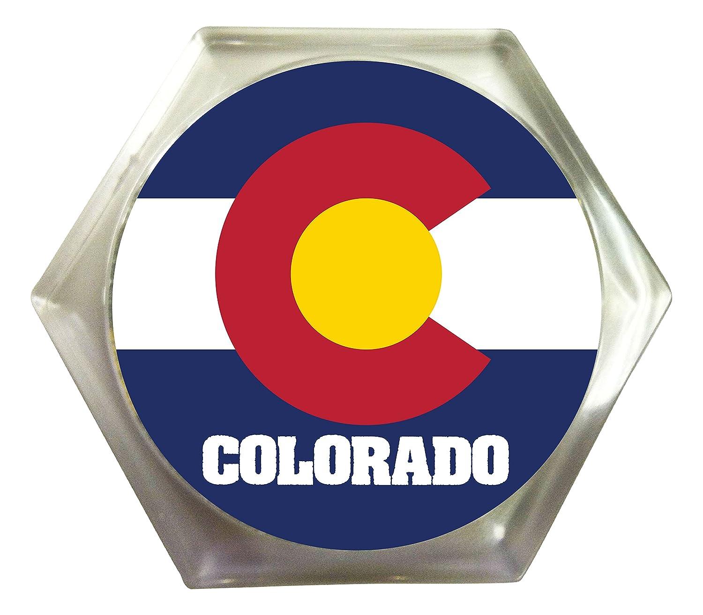Colorado State Flagアクリルプラスチック飲料コースター2 - Pack   B07D4R5MNQ
