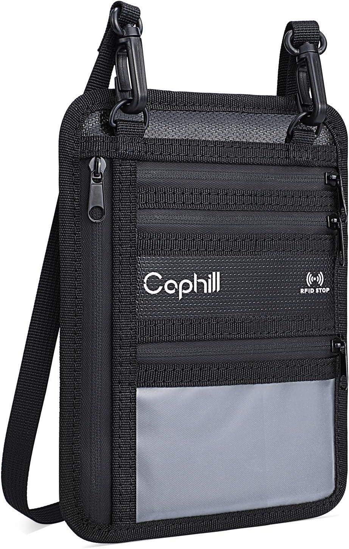 Travel Phone Pouch Bag RFID-Blocking Waterproof Passport Holder Neck Strap