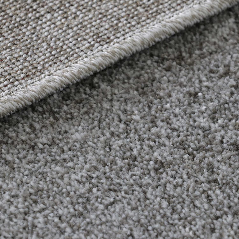Mynes Home Teppich Kurzflor Kurzflor Kurzflor Grau einfarbig Modern Wohnzimmerteppich Wohnzimmer Umrandung Bordüre Designer (200cm x 290cm) B07F34J21G Teppiche 092d4f