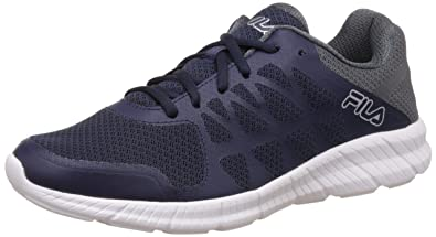 Fila Men's Memory Finity Fila Navy, Crystal and White Running Shoes -8 UK/