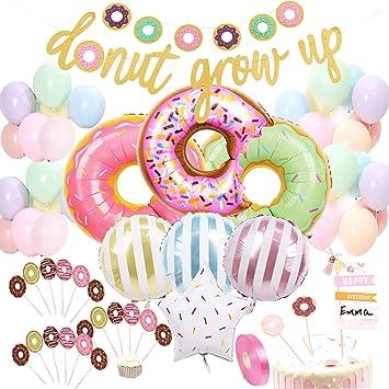 Amazon.com: Juego de decoración de fiesta de cumpleaños con ...