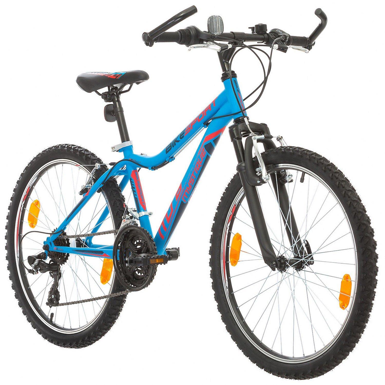 BIKE SPORT LIVE ACTIVE Jungenfahrrad Mädchen Fahrrad 24 Zoll Bikesport MISTIQUE Mountainbike Jugend Fahrrad Kinderfahrrad Kinderrad Rahmen 34,5 cm Shimano 18 Gang