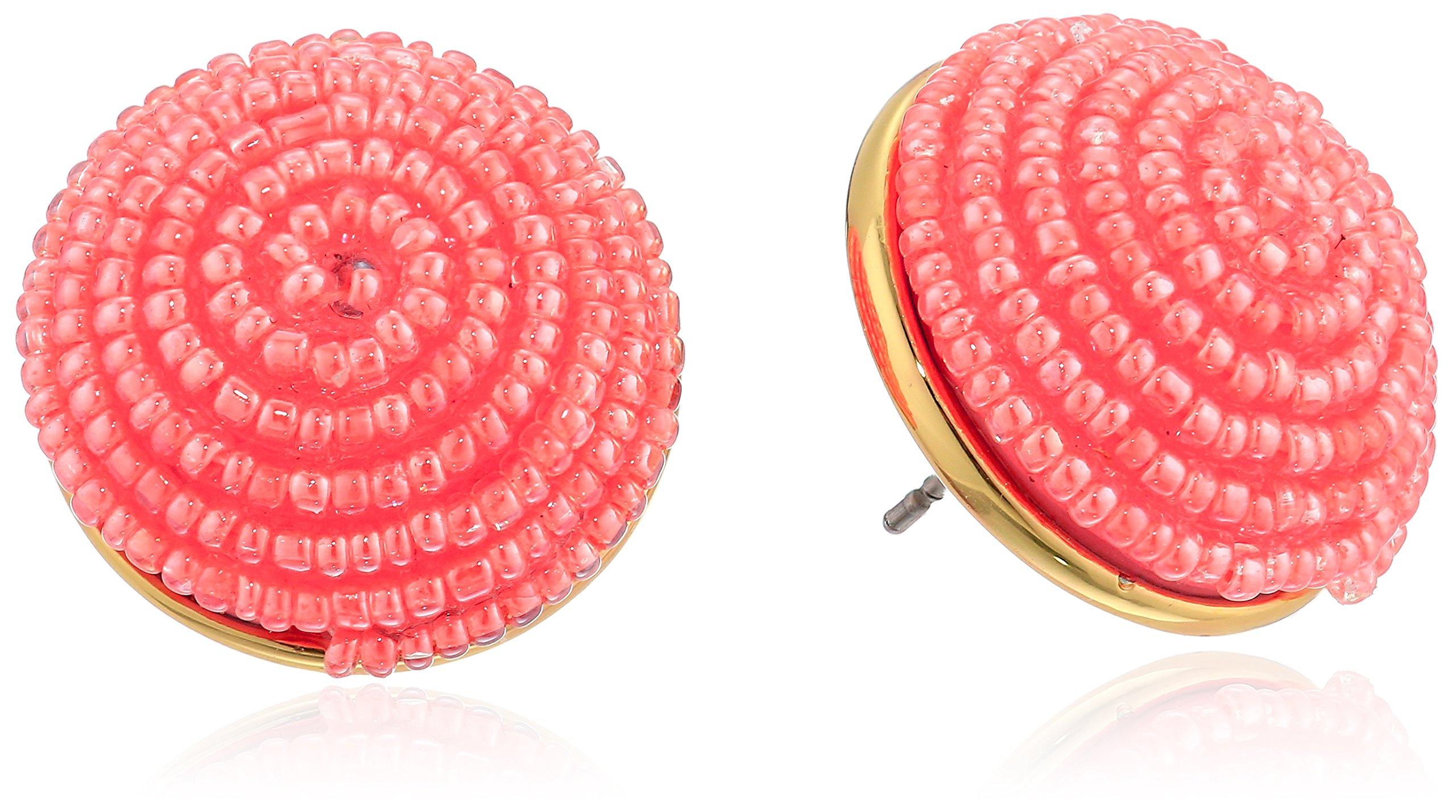 kate spade new york Womens Button Stud Earrings, Neutral Multi