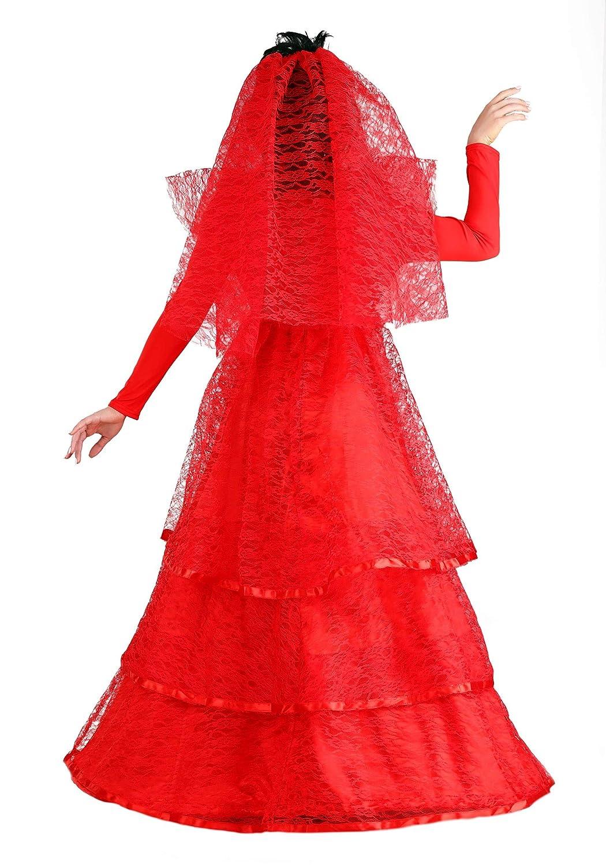 Women\'s Ghostly Wedding Dress Plus Size Red Gothic Wedding Dress Costume