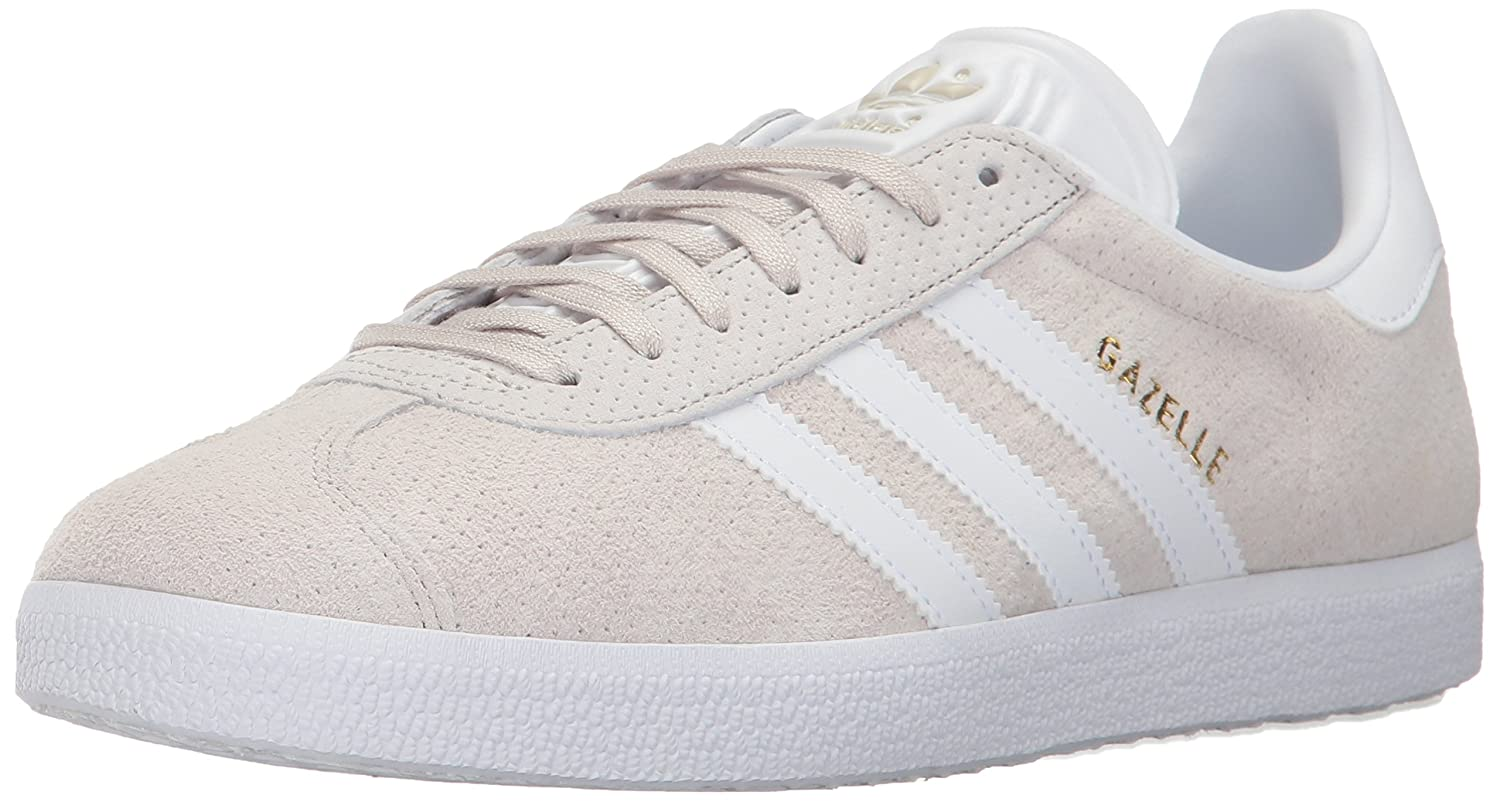 adidas Originals Gazelle W Sneaker B01N0QVGAA 5.5 B(M) US|Clear Brown/White/Gold Metallic