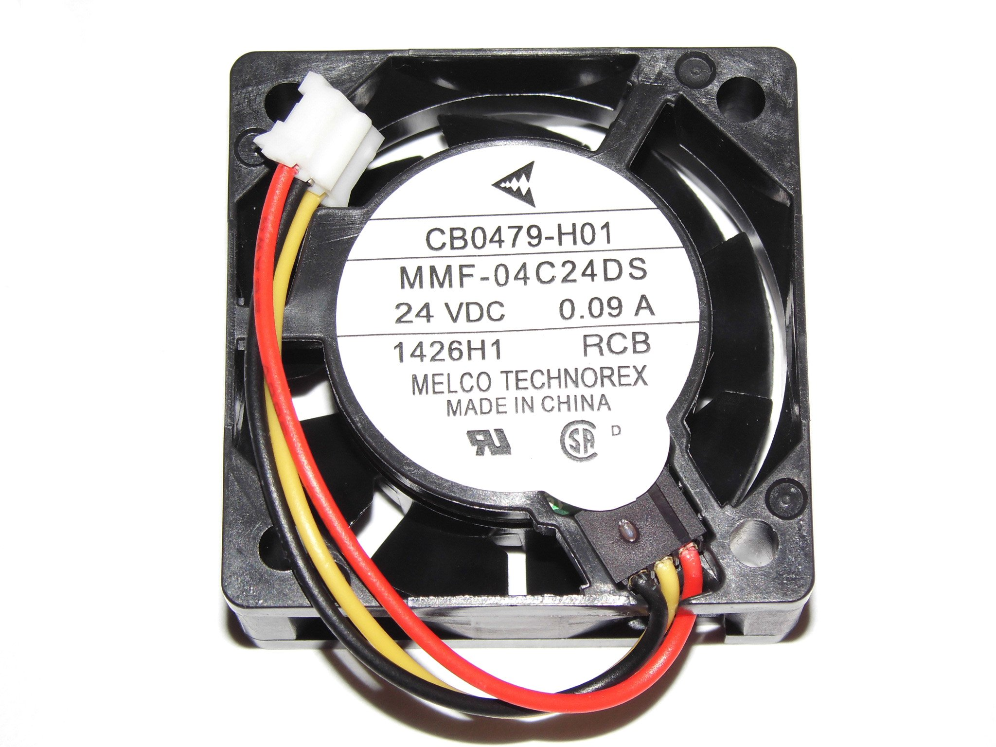 Melco 40MM MMF-04C24DS RCB 24V 0.09A CB0479-H01 3Wire Cooling Fan