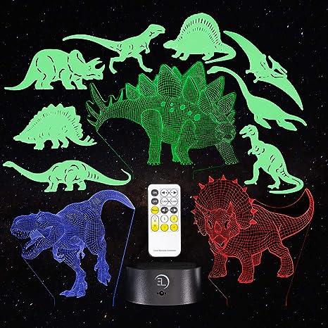 Cartoon Dinosaur LED Night Light Kids Bedroom Table Sleeping Lighting Lamp