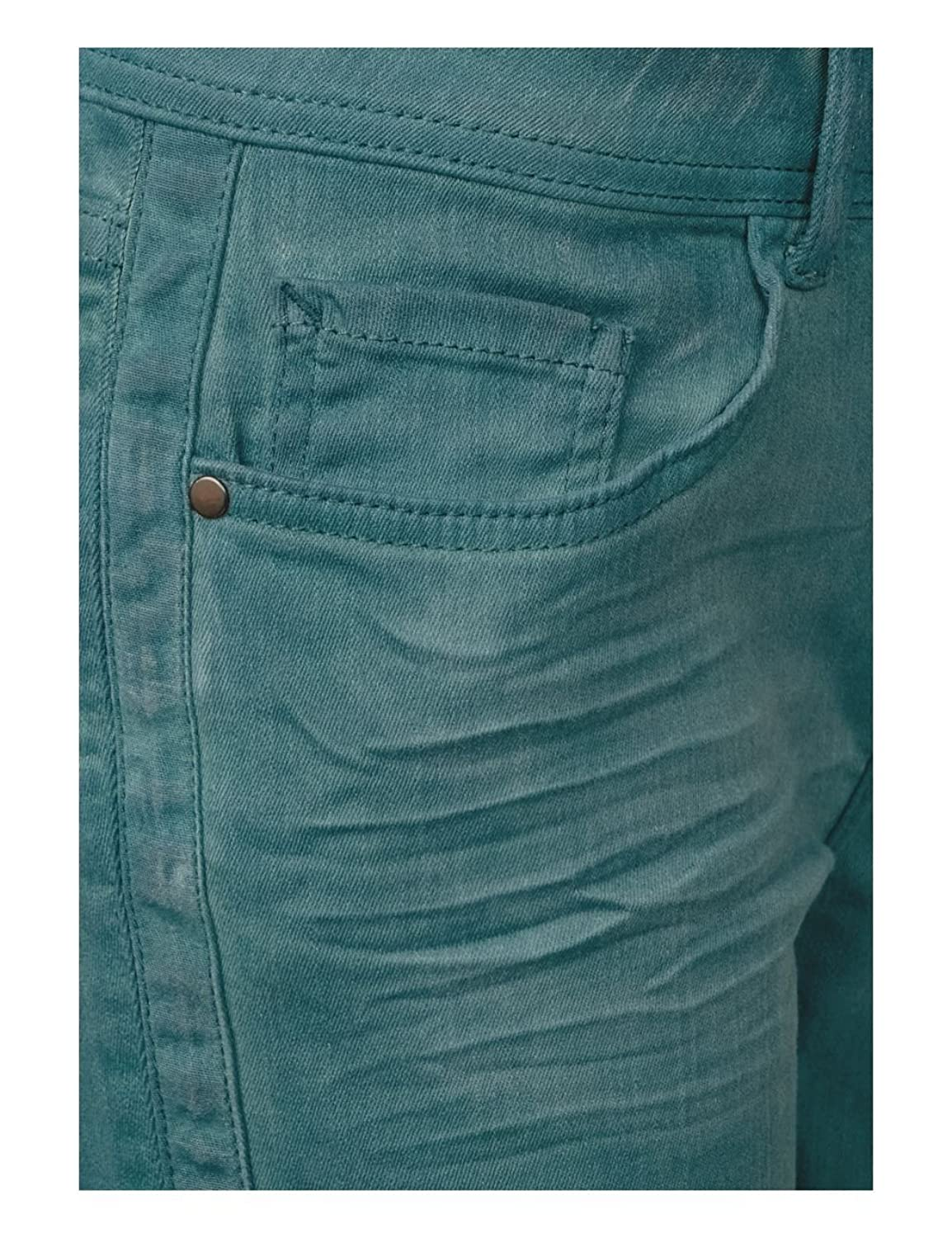 Street One 371241 Jane, Vaqueros Slim para Mujer, Verde (Heavy Teal Green Washed 11331), 30W x 30L
