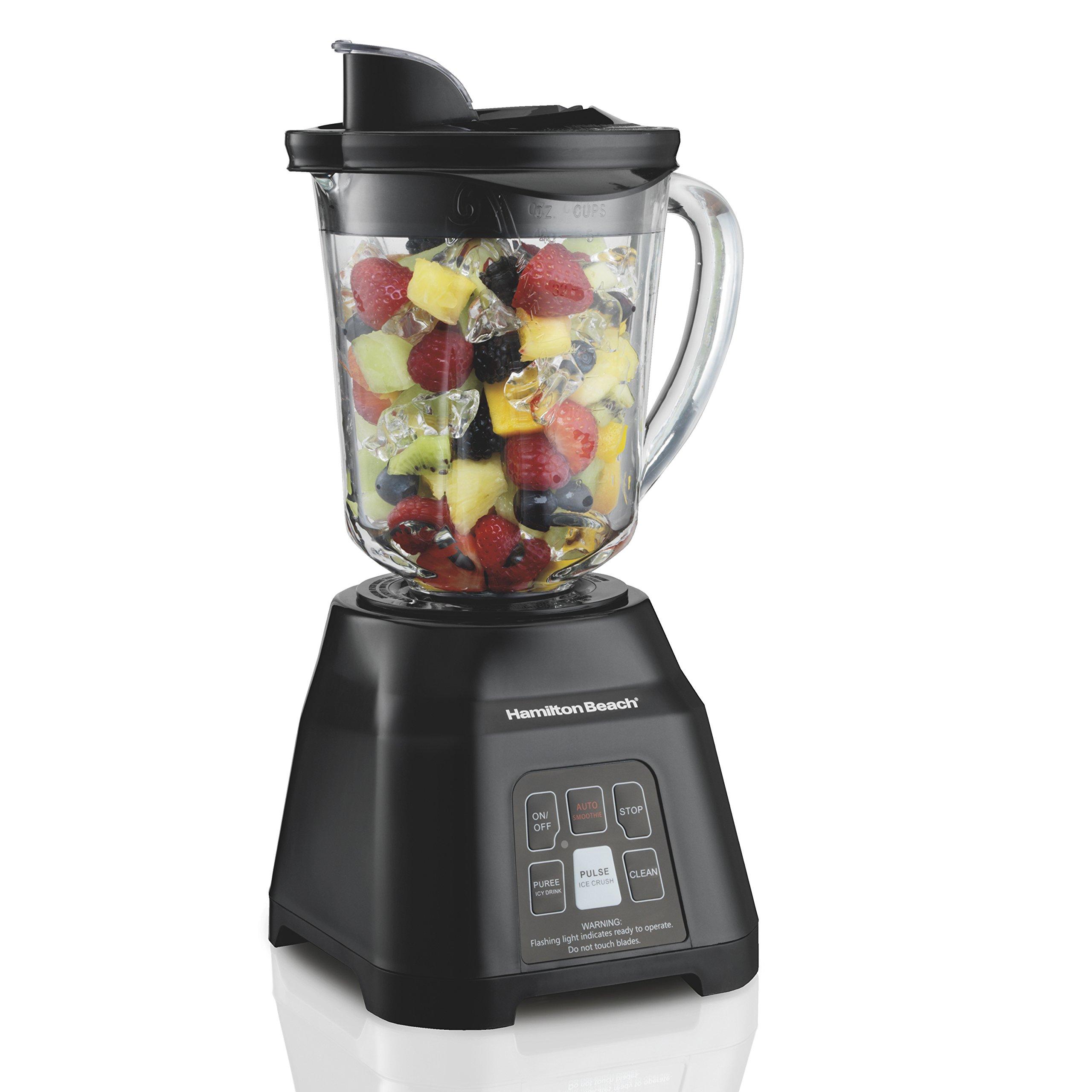 Hamilton Beach Smoothie Smart Blender with 40 oz Glass Jar & 700 Watts (56207)