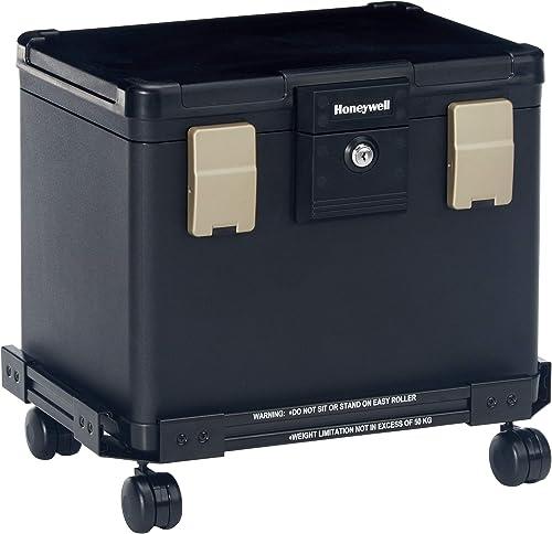 Honeywell Safes & Door Locks 1106W Fire/Waterproof Filing Safe with Wheel Cart, 0.6 Cubic Feet
