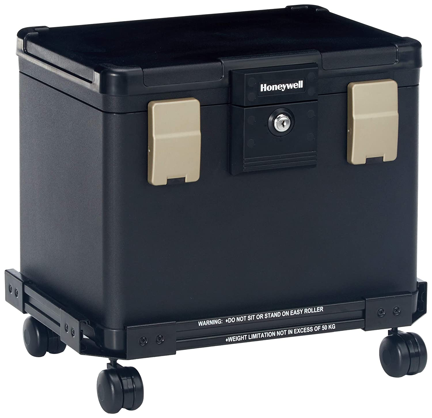 Honeywell Safes & Door Locks - Honeywell Safes & Door Locks Fire Waterproof Filing Safe Box Chest with Wheel Cart 1106W, Medium