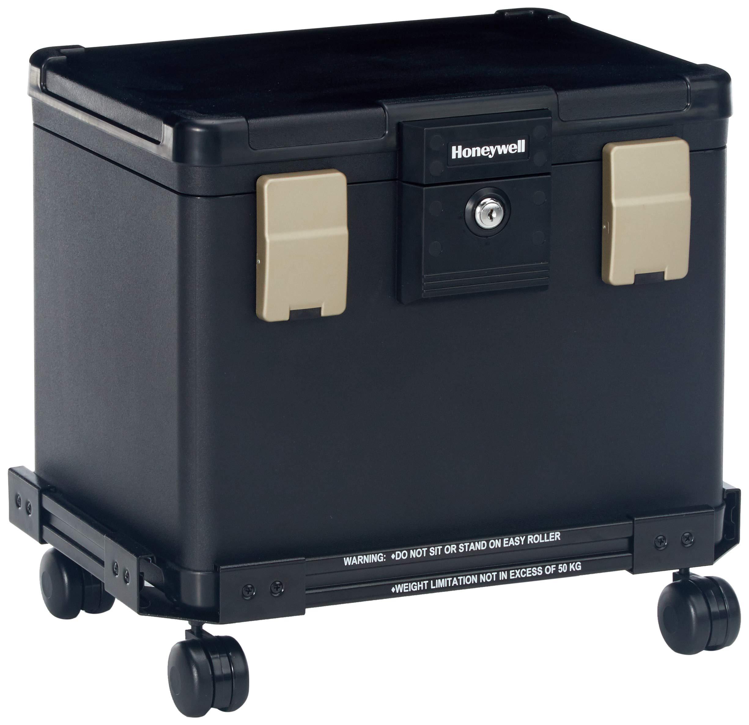 Honeywell Safes & Door Locks - Honeywell Safes & Door Locks Fire Waterproof Filing Safe Box Chest with Wheel Cart 1106W, Medium by Honeywell Safes & Door Locks