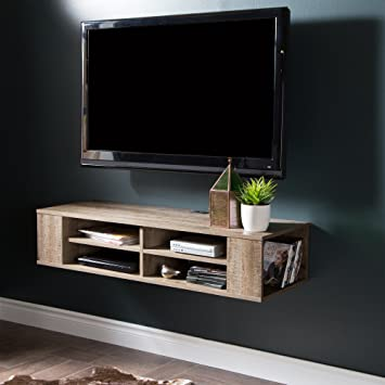 "Amazon City Life Wall Mounted Media Console 48"" Wide Extra"