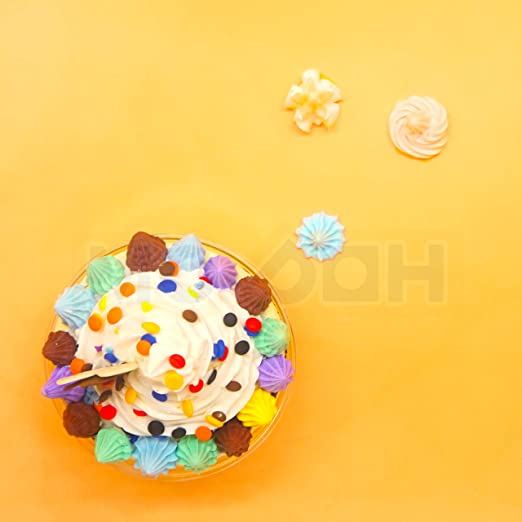 DECODEN Whip glue clay Fake candy cabochon set with free nozzle and SPRINKLES 4