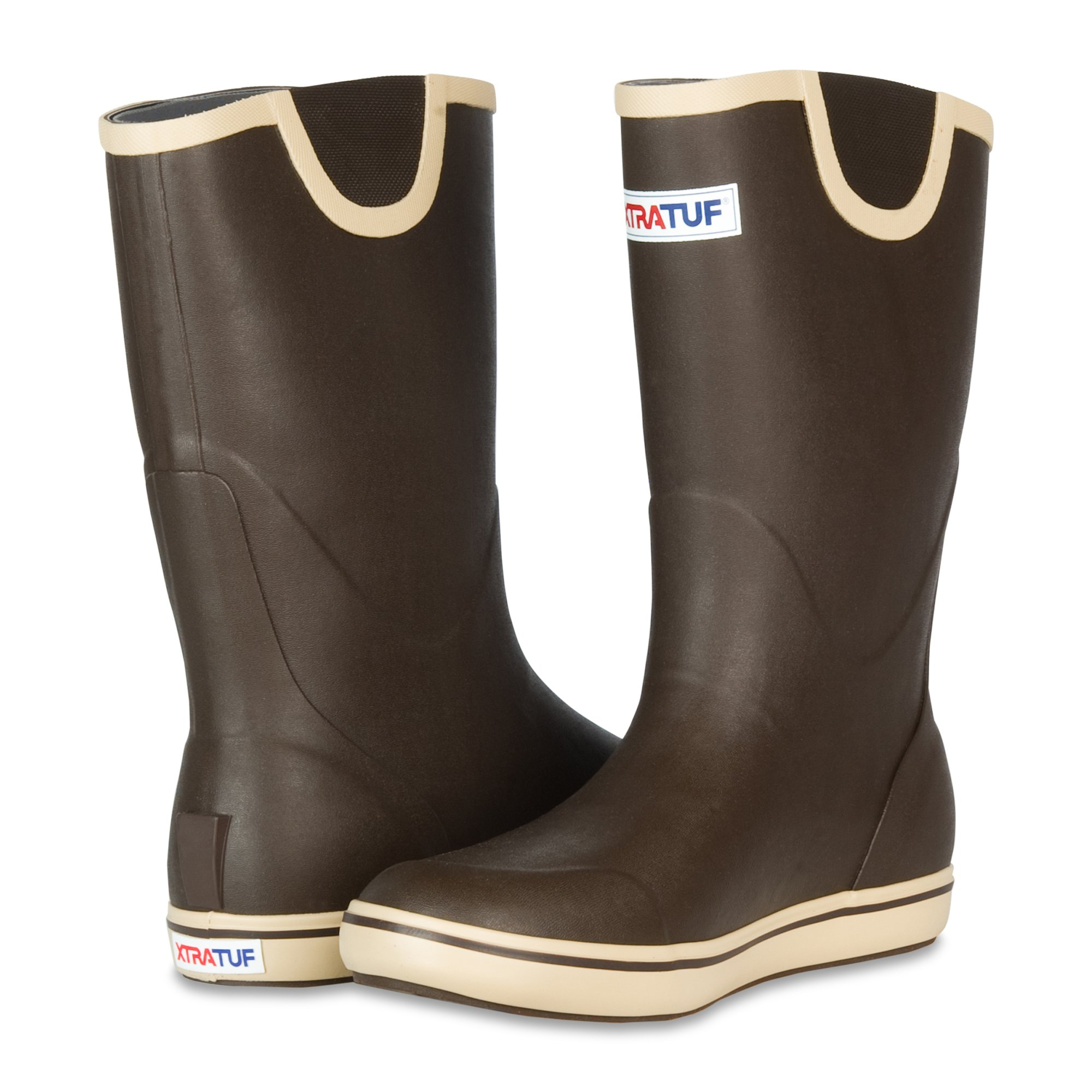 XTRATUF Performance Series 12'' Men's Full Rubber Deck Boots, Chocolate & Tan (22702) by Xtratuf (Image #7)