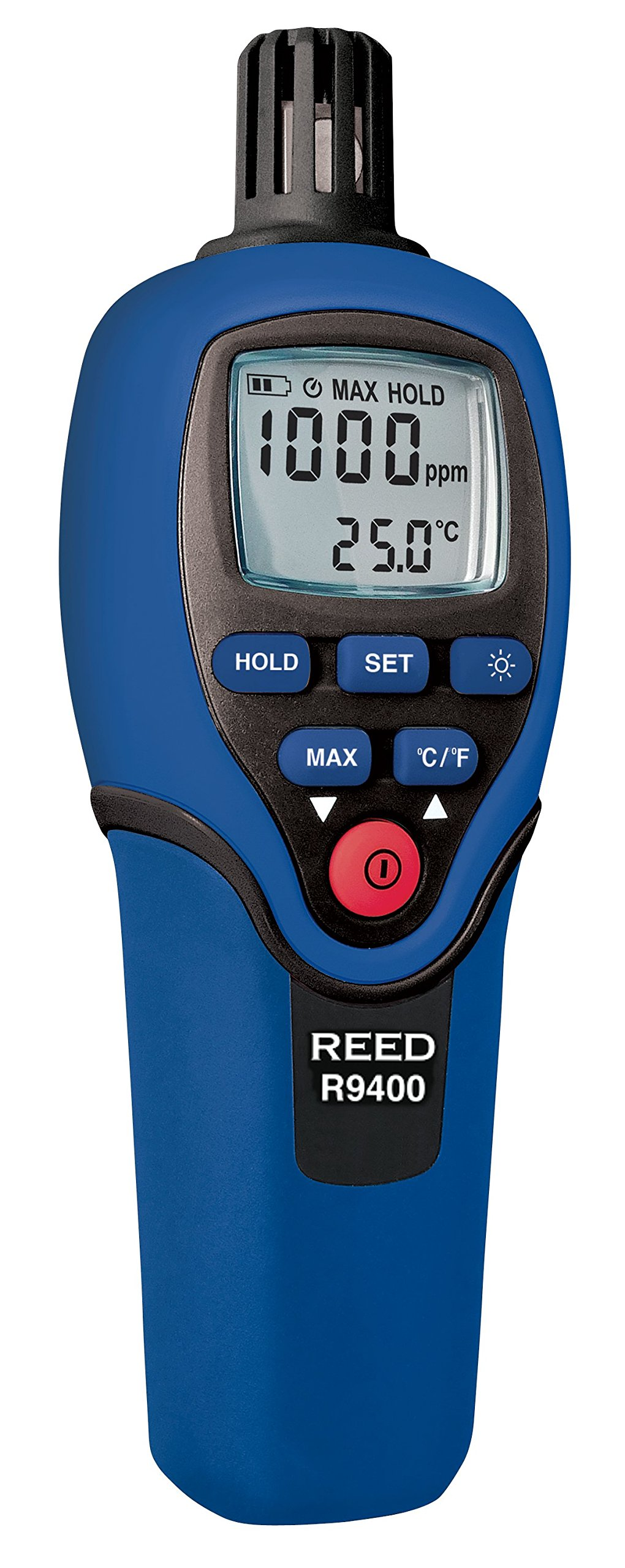 REED Instruments R9400 Carbon Monoxide (CO) Meter with Temperature, 1000ppm, Accuracy +/-5ppm