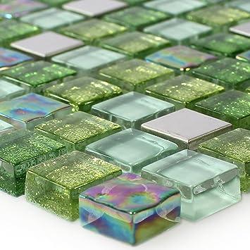 Glas Mosaik Fliesen Barock Ornament Bunt Mix Mosafil