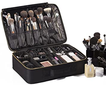 "ROWNYEON Portable EVA Professional Makeup Case 16.14"" Makeup Artist Case  Makeup Train Case Makeup Artist"