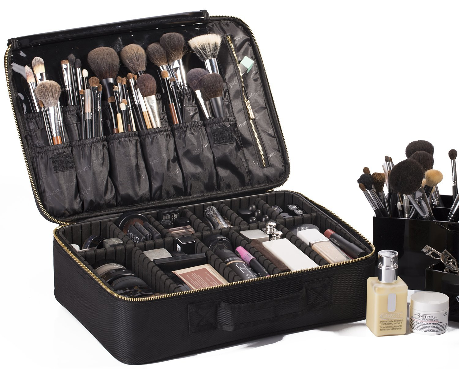 rownyeon portable travel makeup bag makeup. Black Bedroom Furniture Sets. Home Design Ideas