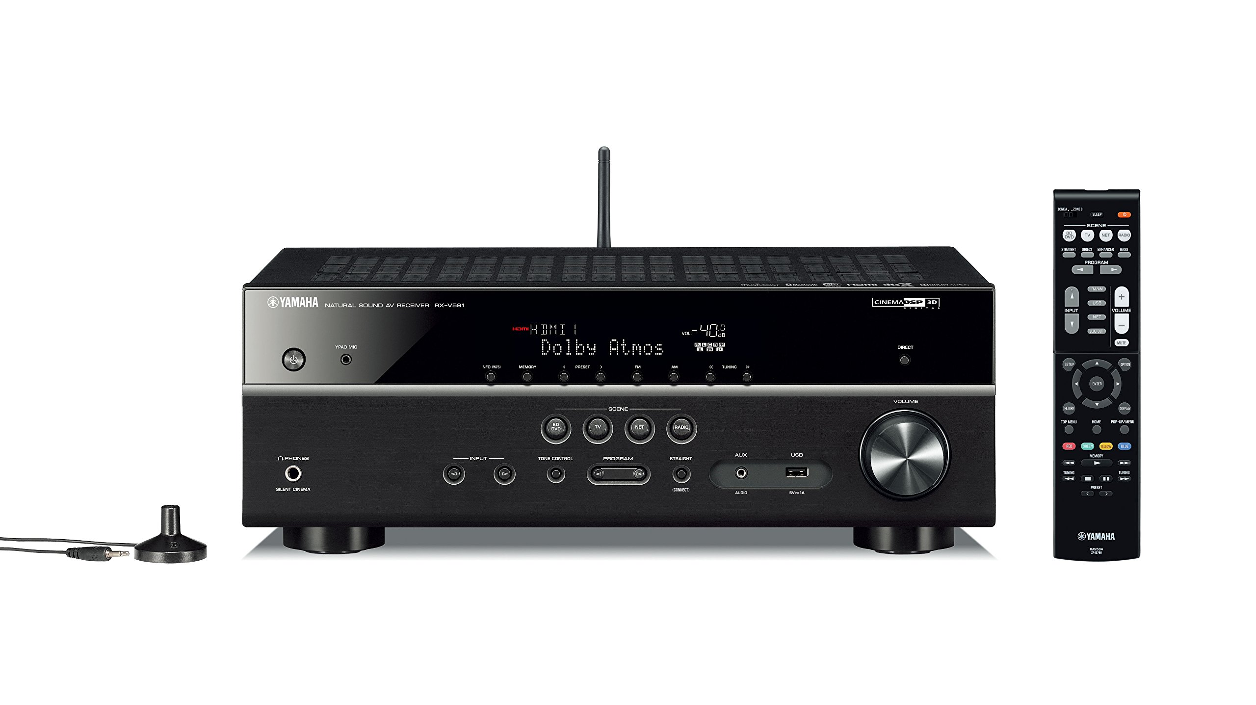 Yamaha RX-V581 7.2-Ch x 80 Watts Networking A/V Receiver by Yamaha