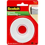 Scotch Indoor Mounting Tape, 1/2-in x 75-in, White, 1-Roll (110)