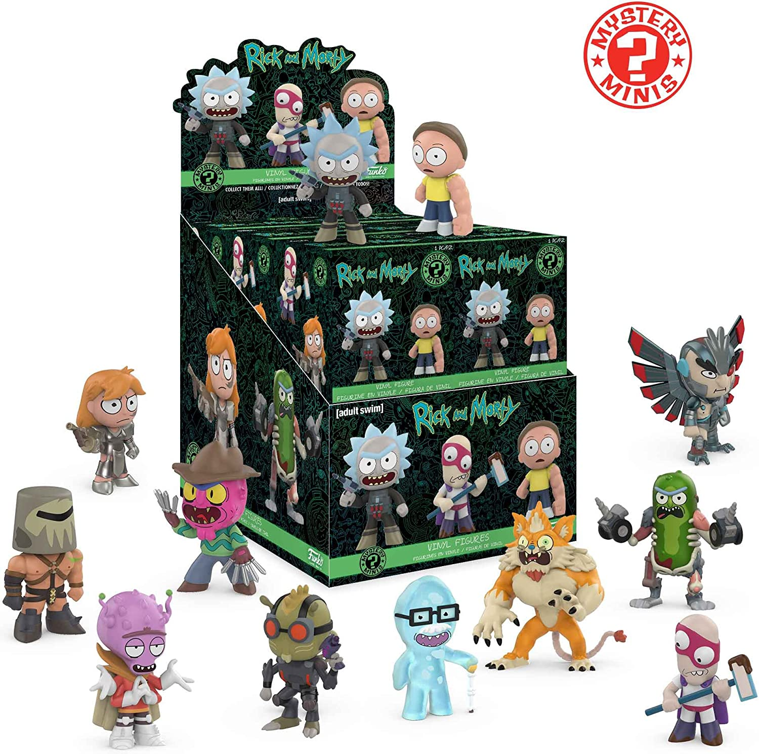Series 1 5 Boxes Blind Box Vinyl Figures Funko RICK AND MORTY Mystery Minis