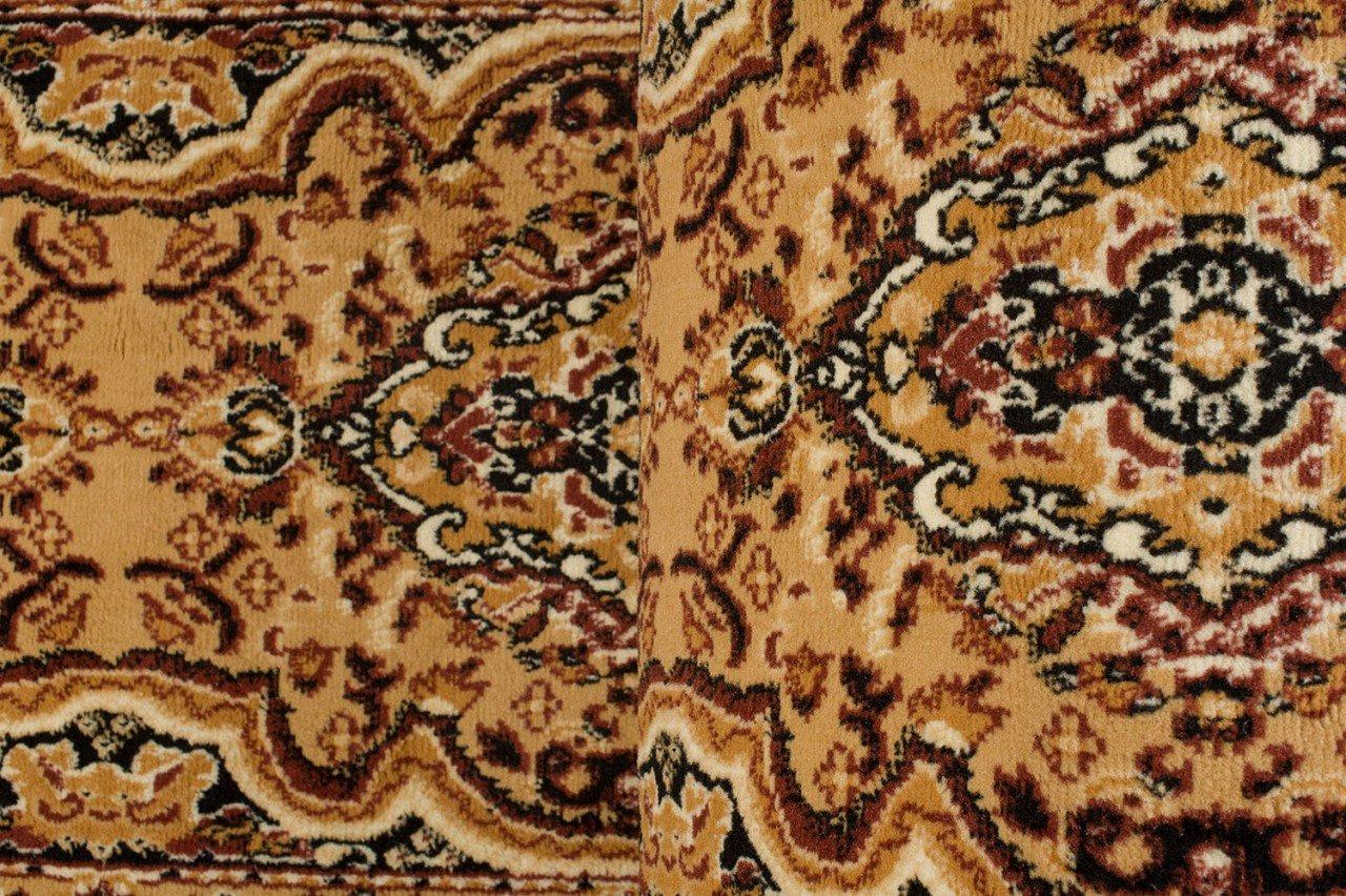 Colecci/ón Verona de Carpeto Marr/ón Beige 60 x 300 cm Oriental Persa Dise/ño Cocina Pasillo Sala De Estar Dormitorio Alfombra de Pasillo a Medida