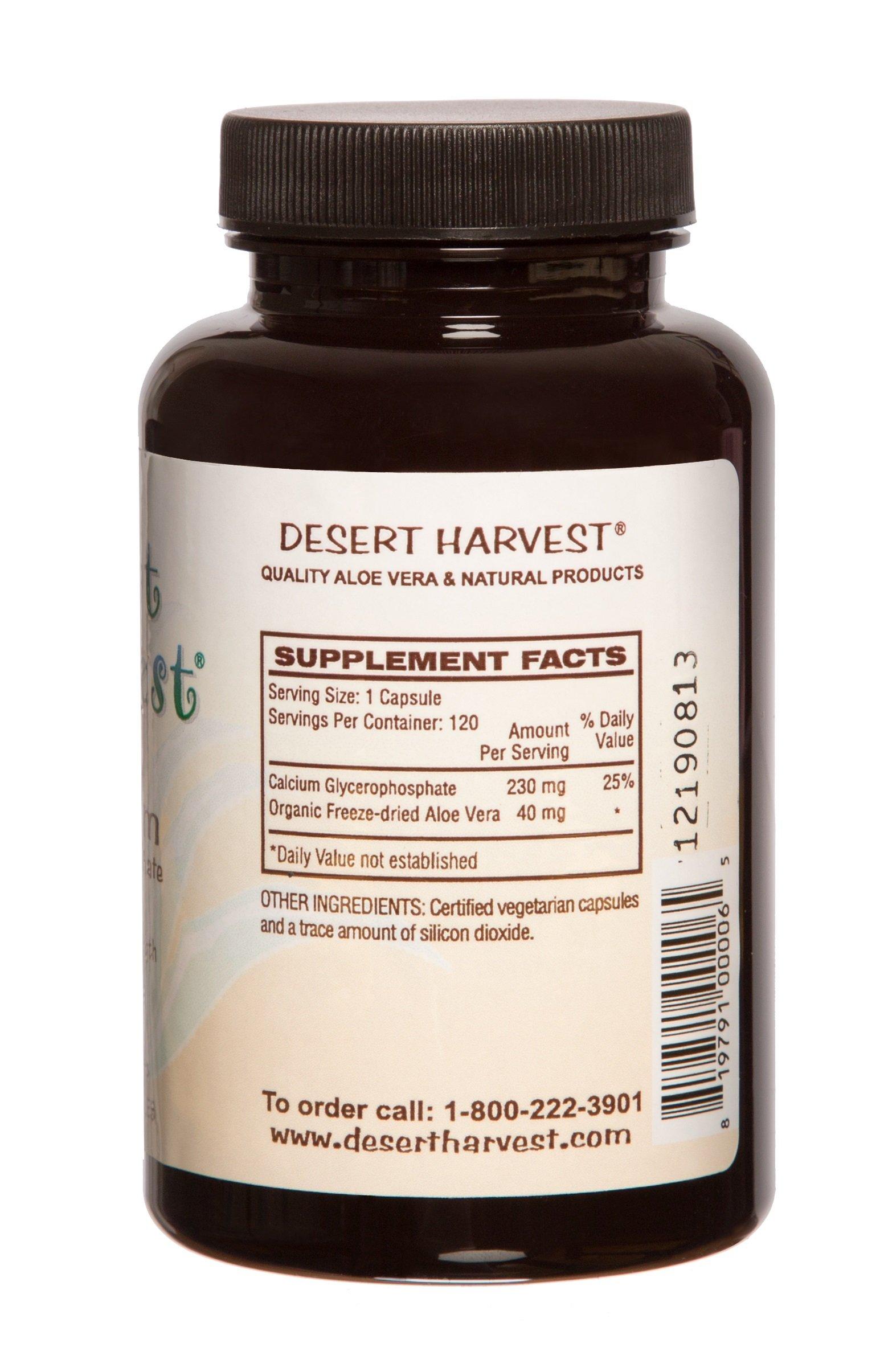 Interstitial Cystitis Starter Kit – Ideal Starter Supplements for IC/BPS. Super-Strength Aloe Vera Capsules + Calcium Glycerophosphate + Quercetin. Bladder Pain Relief, antihistamine, Acid Reducer by Desert Harvest (Image #3)