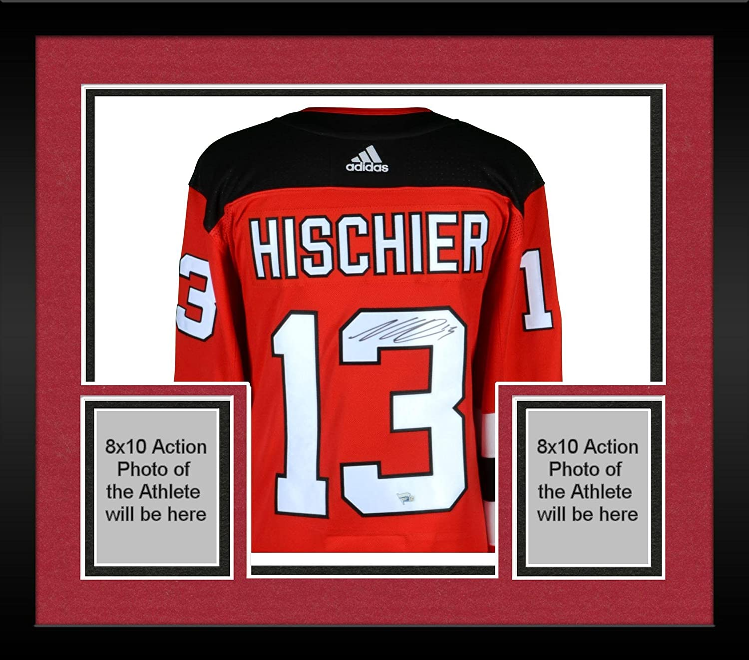 Framed Nico Hischier New Jersey Devils Autographed Red Adidas Authentic  Jersey - Fanatics Authentic Certified at Amazon s Sports Collectibles Store 34b43e831