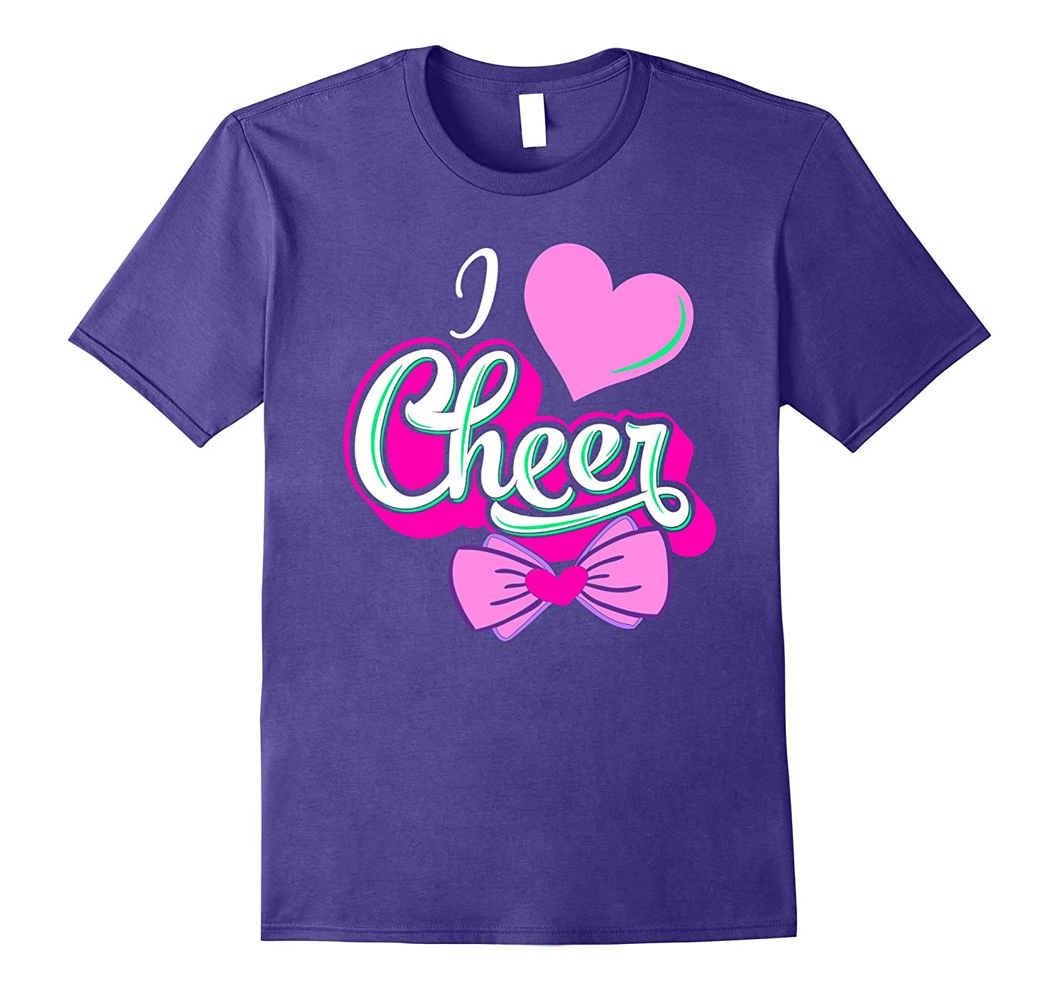 Love Cheer Shirts For Teen Girls Cheerleader T Shirt-TH