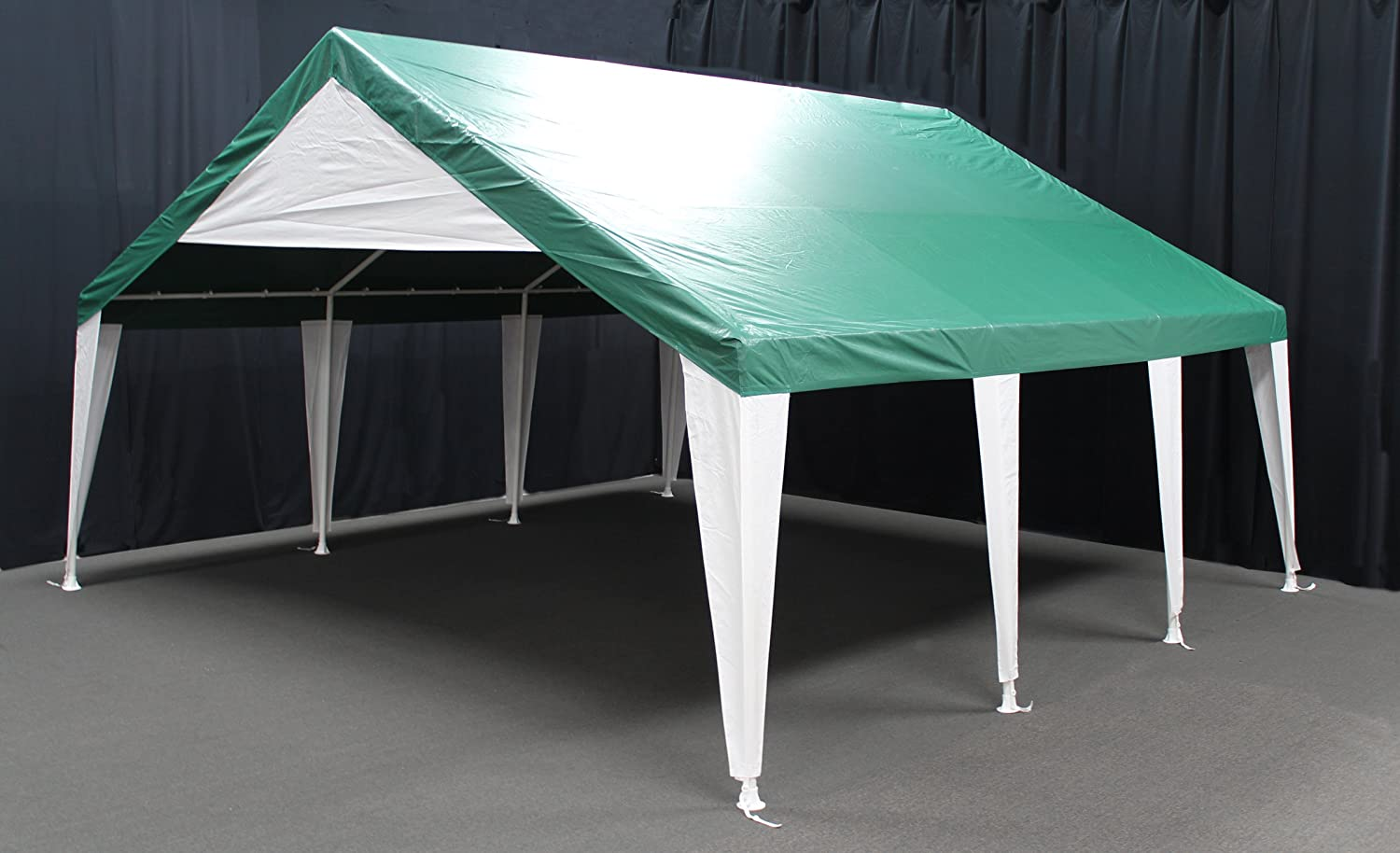 King Canopy ET2020G 20-Feet by 20-Feet Event Tent Canopy, Green and White