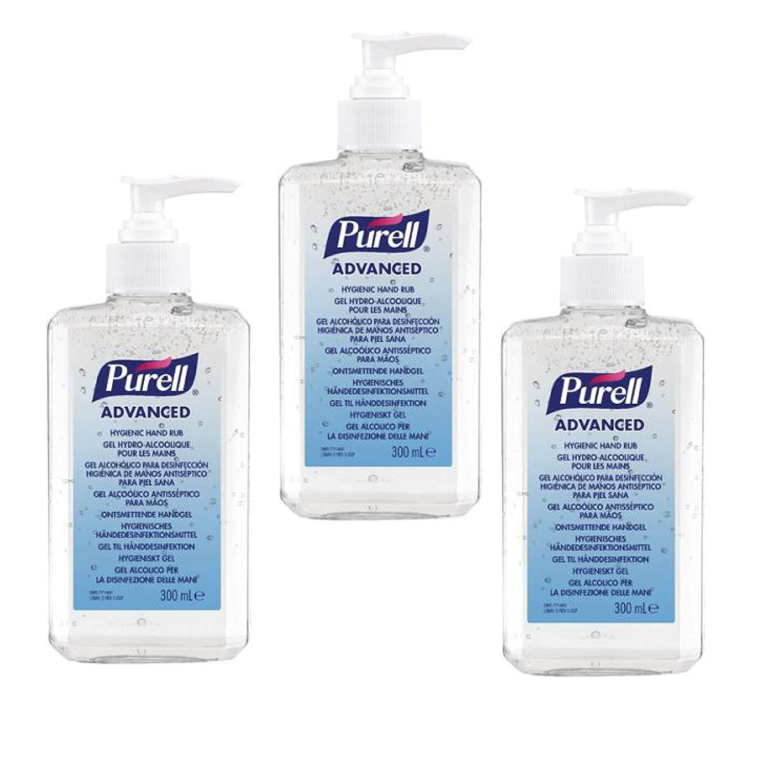 Purell Advanced Hand Sanitizer Gel 300ml Pack Of 3 Amazon Co Uk