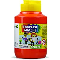 Tempera Guache 250 ml, Acrilex, 020250507, Vermelho Fogo