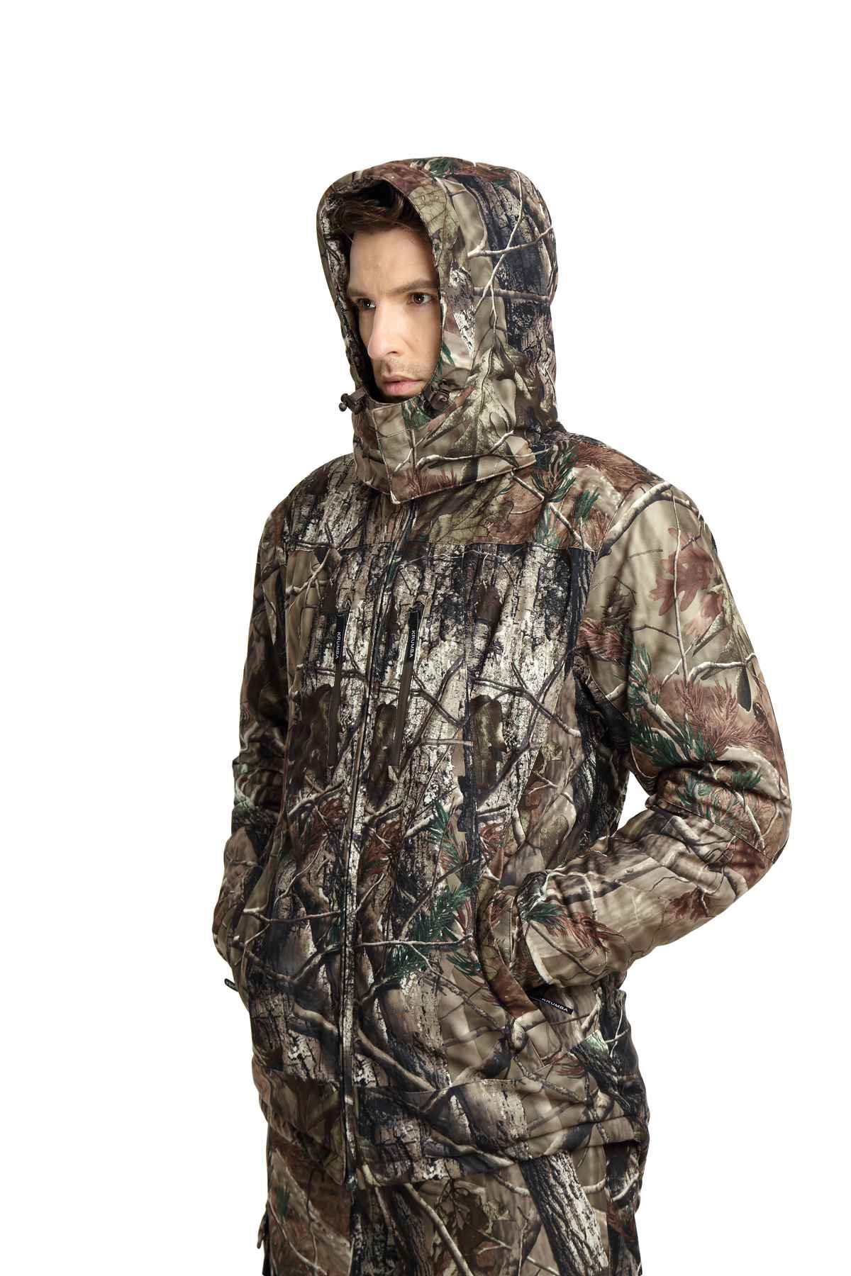69e72b54e0e36 Krumba Men's Camouflage Hunting Windproof Waterproof Seam Sealed Jacket –  Abundance Outfitters