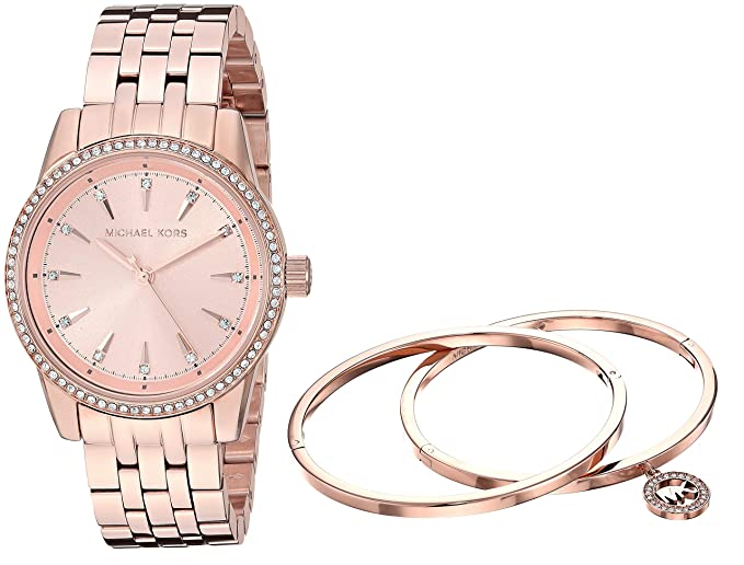 3f4da58651d48 Image Unavailable. Image not available for. Colour  Michael Kors Analog  Rose Gold Dial Women s Watch-MK3744