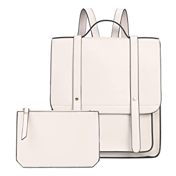 c8ac691031a Amazon.com: ECOSUSI Women Briefcase Laptop Backpack PU Leather ...