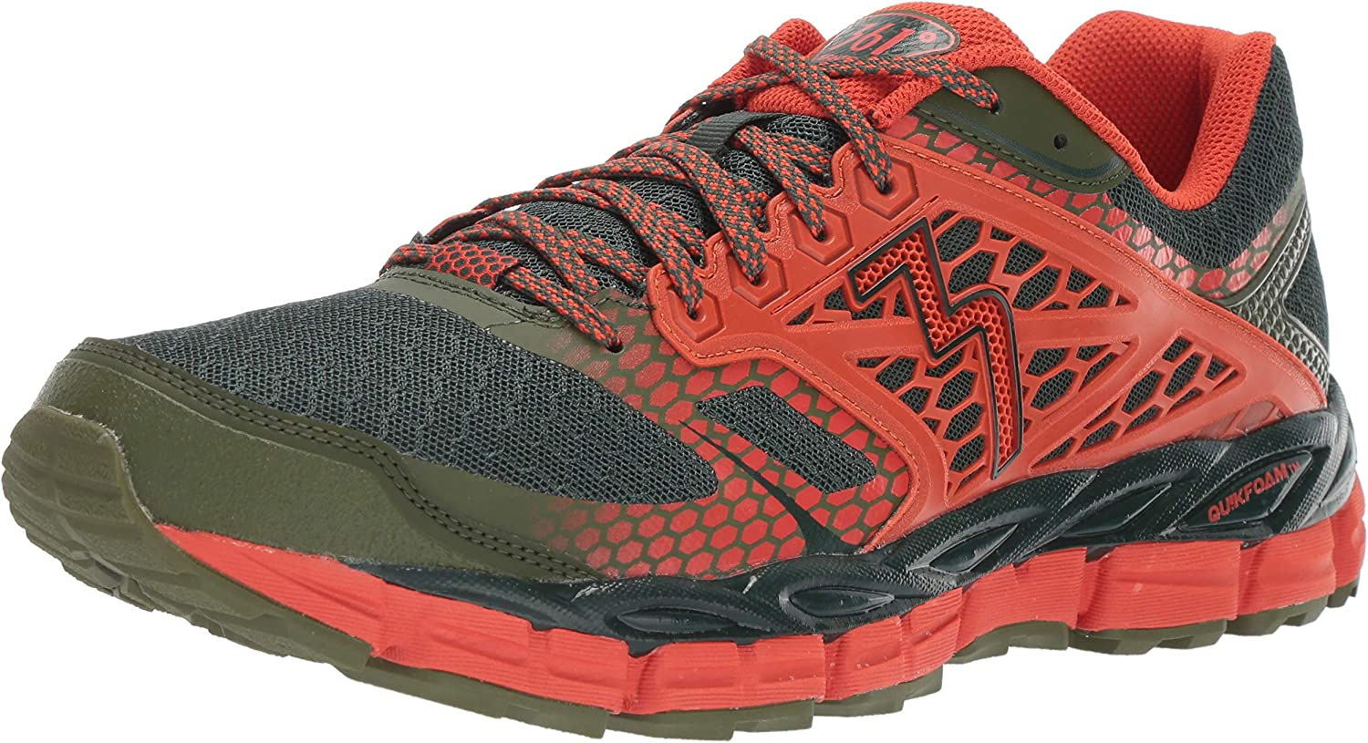 Image of 361° Men's Santiago-M Trail Runner, Cyprus/Poppy, 10.5 M US Trail Running
