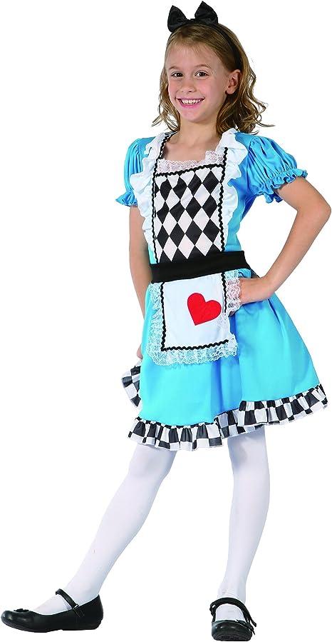 Generique - Disfraz Alicia de corazón niña S 4-6 años (110-120 cm ...