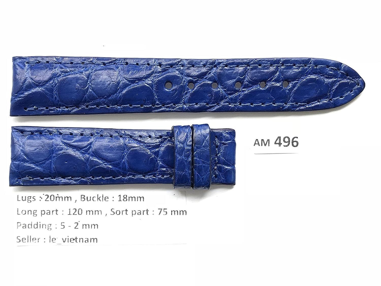 le_vietnam APPAREL メンズ US サイズ: 20mm/18mm カラー: ブルー  B077VFT5XK