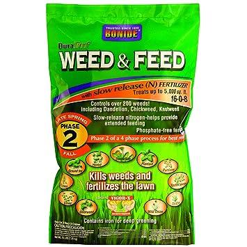 Amazon.com : Bonide 60420 Weed and Feed Weed Killer, 5M : Garden ...
