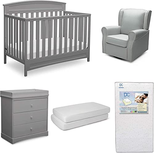 Delta Children Sutton 5-Piece Baby Nursery Furniture Set