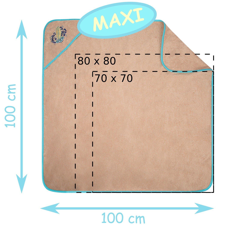 Toalla de rizo con capucha 100x100