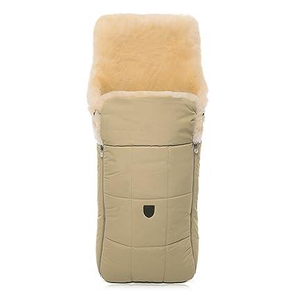Saco cubrepiernas de piel de cordero/oveja para carro de bebé CHRIST – curtido medicinal, saco universal para choche, sillas de paseo o Buggy, color: ...