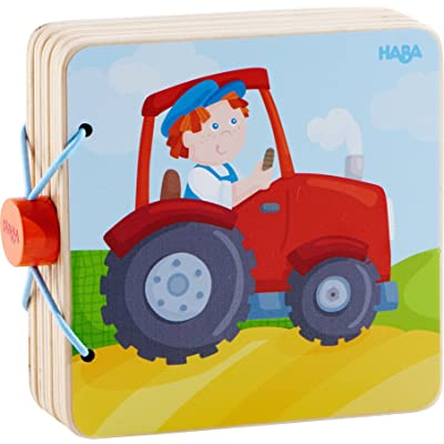 HABA Tractor Wooden Baby Book with Easy Turn Pages - Find All The Things Farmer Peter has on his Farm - Ages 10 Months and Up: Toys & Games