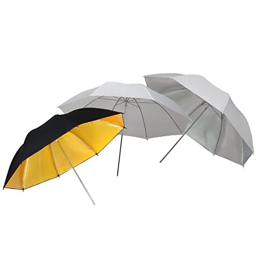 White//Silver//Gold Black DynaSun UR02 33 inch Professional Kit with Umbrella Shoot Through Diffuser//Reflective Portrait//Reflector Softbox