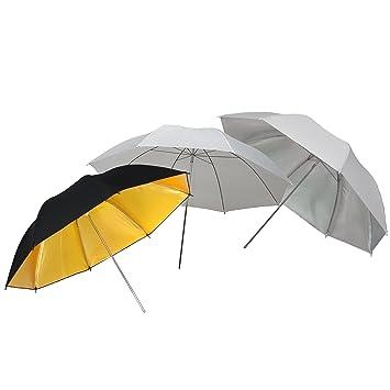99f05e849cc1 DynaSun UR02 Pack de 3 Parapluies pour Studio Photo Vidéo avec Diffuseur  Translucide 84 cm