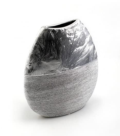 Terracotta Vaso Vaso Decorativo Vaso Panciuto Ovale In Ceramica