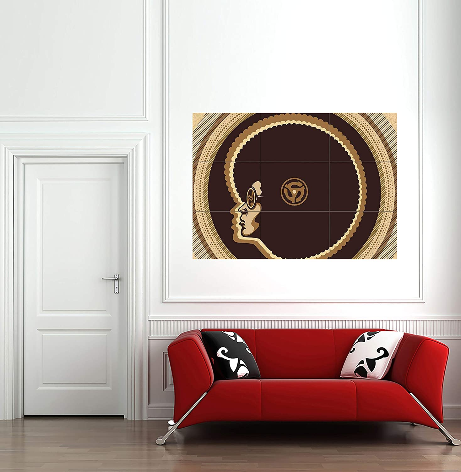 Funk Soul Motown Afro Blues Giant Wall Mural Art Poster Print 50x35 Inches
