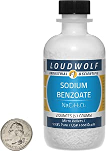 Sodium Benzoate / Micro Pellets / 2 Ounces / 99.9% Pure Food Grade / SHIPS FAST FROM USA